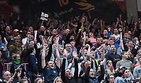 Basketball  1. Bundesliga  2017/2018  Hauptrunde  14. Spieltag  23.12.2017 Walter Tigers Tuebingen - Basketball Laewen Braunschweig JUBEL, Emotion der Tigers Fans in der Paul Horn Arena