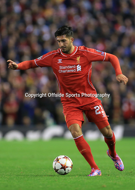 22nd October 2014 - UEFA Champions League - Group B - Liverpool v Real Madrid - Emre Can of Liverpool - Photo: Simon Stacpoole / Offside.