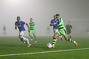 Forest Green Rovers Keanu Marsh-Brown(7) crosses the ball during the Vanarama National League match between Forest Green Rovers and Dover Athletic at the New Lawn, Forest Green, United Kingdom on 17 December 2016. Photo by Shane Healey.