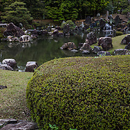 Ninomaru Garden at Nijojo - Ninomaru garden was designed by the landscape architect and garden designer Kobori Ensh and is located adjacent to Ninomaru Palace at Nijo Castle or Nijo-jo. The garden has a large pond with three islands and features carefully placed stones and pine trees.