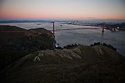 The Marin Headlands with San Francisco, Calif. in the background, December 13, 2012.