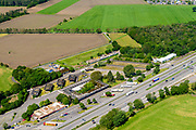 Nederland, Gelderland, Gemeente Zevenaar, 29-05-2019; grensovergang Bergh, A12. Grens met Duitsland, (voormalige) Grenspost Bergh nabij Babberich en Veldhuizen/Feldhuisen<br /> Bergh border crossing, A12. Border with Germany, (former) Border post Bergh near Babberich and Veldhuizen / Feldhuisen.<br /> <br /> luchtfoto (toeslag op standard tarieven);<br /> aerial photo (additional fee required);<br /> copyright foto/photo Siebe Swart