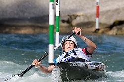 Margaux HENRY of France during the Canoe Single (WC1) Womens Semi Final race of 2019 ICF Canoe Slalom World Cup 4, on June 30, 2019 in Tacen, Ljubljana, Slovenia. Photo by Sasa Pahic Szabo / Sportida