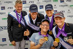 Team Germany, Klimke Ingrid, Jung Michael, Dibowski Andreas, Rüder Kai<br /> European Championship Eventing<br /> Luhmuhlen 2019<br /> © Hippo Foto - Stefan Lafrentz<br /> 01/09/2019
