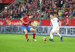November 15, 2018 - Gdansk, Pomorze, Poland - Tomas Soucek (15) Robert Lewandowski (9) during the international friendly soccer match between Poland and Czech Republic at Energa Stadium in Gdansk, Poland on 15 November 2018  (Credit Image: © Mateusz Wlodarczyk/NurPhoto via ZUMA Press)