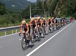 08.07.2017, Wels, AUT, Ö-Tour, Österreich Radrundfahrt 2017, 6. Etappe von St. Johann/Alpendorf nach Wels (203,9 km), im Bild das Feld bei Bischofshofen, Salzburg // the peleton at Bischofshofen Salzburg during the 6th stage from St. Johann/Alpendorf to Wels (203,9 km) of 2017 Tour of Austria. Wels, Austria on 2017/07/08. EXPA Pictures © 2017, PhotoCredit: EXPA/ Reinhard Eisenbauer