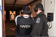 YPO Guest during shooting practice on target with GW special 9mm gun. -  Garda World / Montreal / Canada / 2010-11-24, © Photo Marc Gibert/ adecom.ca
