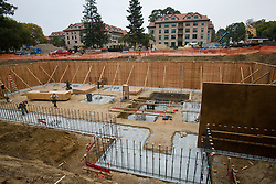 October 10, 2009; Stanford, CA, USA; Construction of the new faculty building at Stanford Law School, Stanford University.