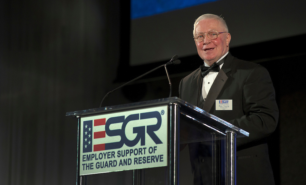 Recipients of the 2011 Secretary of Defense Employer Support Freedom Award get together for an award ceremony that recognizes ? organizations across the nation who are honored for providing exemplary support of their Guard and Reserve employees.  Photo by