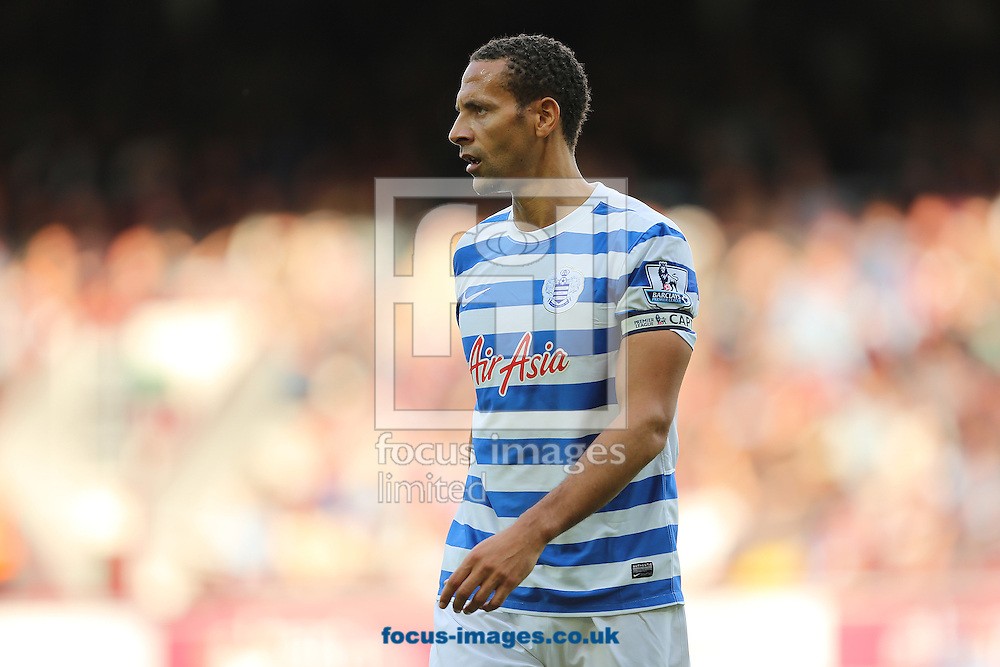 Rio Ferdinand of Queens Park Rangers during the Barclays Premier League match at the Boleyn Ground, London<br /> Picture by Richard Calver/Focus Images Ltd +447792 981244<br /> 05/10/2014