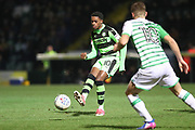 Forest Green Rovers Reece Brown(10) passes the ball during the EFL Trophy 3rd round match between Yeovil Town and Forest Green Rovers at Huish Park, Yeovil, England on 9 January 2018. Photo by Shane Healey.