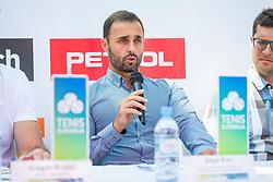 Aljaz Kos during Press conference of ATP Challenger Portoroz, on June 16, 2018 in Tivoli, Ljubljana, Slovenia. Photo by Ziga Zupan / Sportida