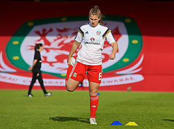 NEWPORT, WALES - Tuesday, June 12, 2018: Wales' Alice Griffiths during the pre-match warm-up before the FIFA Women's World Cup 2019 Qualifying Round Group 1 match between Wales and Russia at Newport Stadium. (Pic by David Rawcliffe/Propaganda)