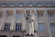Statue in front of the Faculty of Letters, Praca da Porta Ferrea, Coimbra University, Portugal.