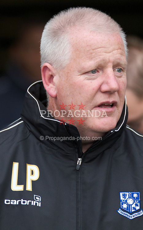 BIRKENHEAD, ENGLAND - Saturday, September 18, 2010: Tranmere Rovers' manager Les Parry against Charlton Athletic during the Football League One match at Prenton Park. (Photo by Vergard Grott/Propaganda)