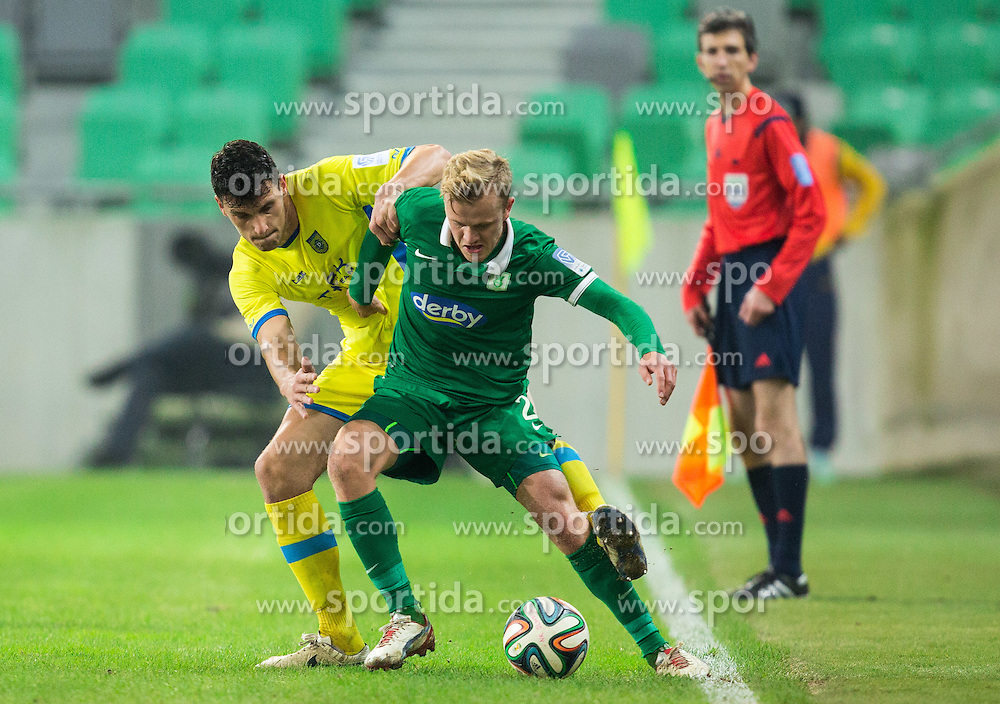 Darko Zec #5 of Domzale vs Nik Omladic #21 of Olimpija during football match between NK Olimpija Ljubljana and NK Domzale in 18th Round of Prva liga Telekom Slovenije 2014/15, on November 22, 2014 in SRC Stozice, Ljubljana, Slovenia. Photo by Vid Ponikvar / Sportida