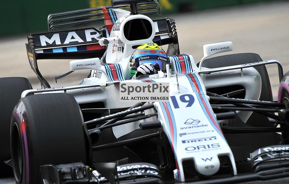 Felipe Massa, Williams Martini F1 Team.<br /> Day 2 of the 2017 Formula 1 Singapore Airlines, Singapore Grand Prix held at The Marina Bay street circuit, Singapore on the 15th September 2017.<br /> Wayne Neal | SportPix.org.uk