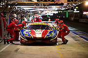 June 14-19, 2016: 24 hours of Le Mans. AF CORSE, FERRARI 488 GTE, Gianmaria BRUNI, James CALADO, Alessandro PIER GUIDI, LM GTE Pro