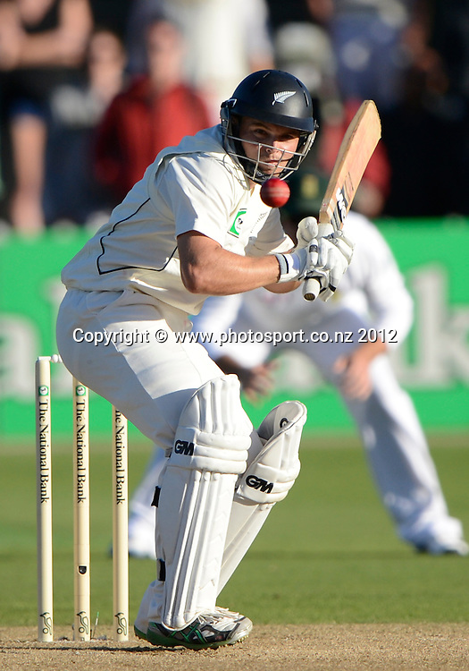 New Zealand opening batsman Daniel Flynn. Third Test, Day 3. New Zealand Black Caps versus South Africa Proteas, Basin Reserve, Wellington, New Zealand. Sunday 25 March 2012. Photo: Andrew Cornaga/Photosport.co.nz