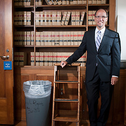 Assistant Attorney General Thomas Perez photographed in his conference room at the Civil Rights Division at the Department of Justice.