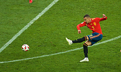MOSCOW, RUSSIA - Sunday, July 1, 2018: Spain's Rodrigo Moreno Machado during the FIFA World Cup Russia 2018 Round of 16 match between Spain and Russia at the Luzhniki Stadium. (Pic by David Rawcliffe/Propaganda)