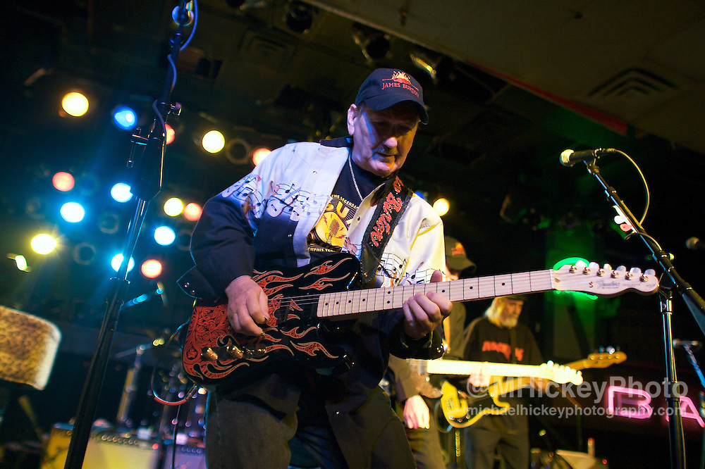 James Burton and the All Stars appear at Pierre's in Fort Wayne, Indiana on May 9, 2008. Photo by Michael Hickey