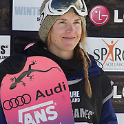 Ursina Haller, Switzerland, Ladies third place winner, during the Half Pipe Finals in the LG Snowboard FIS World Cup, during the Winter Games at Cardrona, Wanaka, New Zealand, 28th August 2011. Photo Tim Clayton....