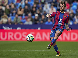 March 4, 2018 - Valencia, Valencia, Spain - Luna of Levante UD with the ball during the La Liga match between Levante UD and RCD Espanyol at Ciutat de Valencia on March 4, 2018 in Valencia, Spain  (Credit Image: © David Aliaga/NurPhoto via ZUMA Press)