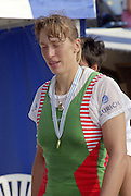 St Catherines, CANADA,  Women's Single Sculls, BLR W1X Ekaterina KARSTEN. awards Dock.  1999 World Rowing Championships - Martindale Pond, Ontario. 08.1999..[Mandatory Credit; Peter Spurrier/Intersport-images]  .. 1999 FISA. World Rowing Championships, St Catherines, CANADA