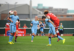 Bristol Academy Womens' Corinne Yorston scores a goal. - Photo mandatory by-line: Dougie Allward/JMP - Mobile: 07966 386802 - 28/09/2014 - SPORT - Women's Football - Bristol - SGS Wise Campus - Bristol Academy Women's v Manchester City Women's - Women's Super League