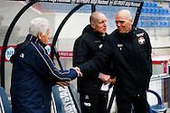 24-03-2016 VOETBAL:WILLEM II-MVV:TILBURG<br /> Vriendschappelijke wedstrijd<br /> MVV trainer Wim Dusseldorp (C) en Trainer/Coach Jurgen Streppel van Willem II <br /> <br /> Foto: Geert van Erven