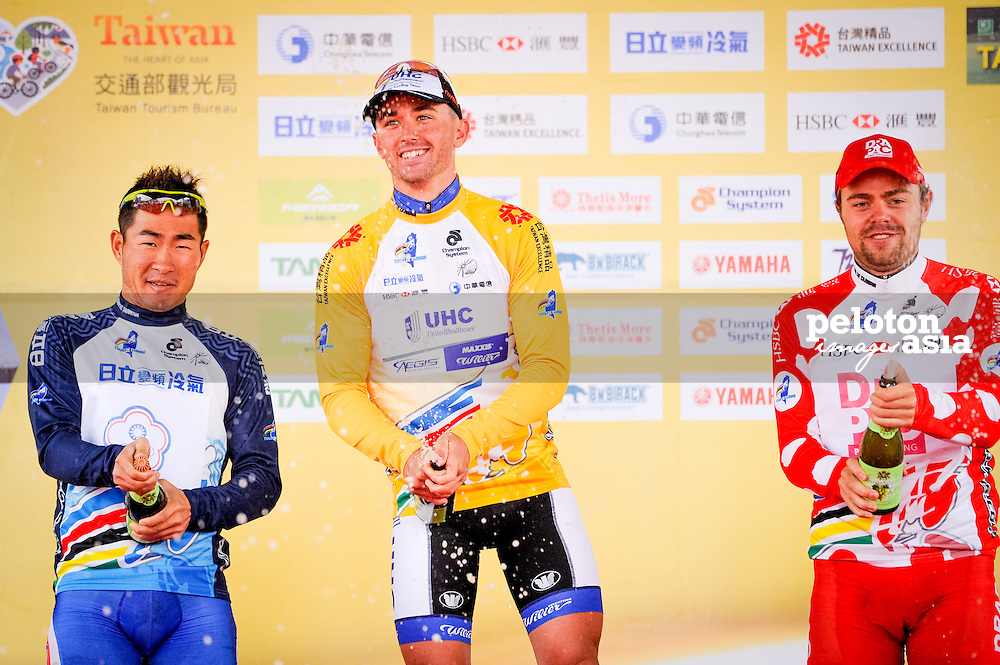 2014 Tour de Taiwan / stage1 / Taiwan / KEOUGH Luke (USA) / UnitedHealthcare /  WIPPERT Wouter (NED) / Drapac Professional Cycling /  HSIN HSIAO Shih (TWN) / Team Gusto