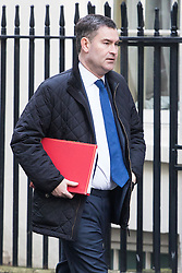 Downing Street, London, January 17th 2017. Chief Secretary to the Treasury David Gauke arrives at the weekly cabinet meeting at 10 Downing Street.