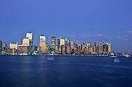 New York. Manhattan skyline view from New Jersey city  New York  Usa /   Le skyline de Manhattan vue depuis New Jersey city   New York  USa