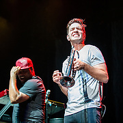 Andy Grammer performs at Merriweather Post Pavilion on August 20, 2016 (Photo by Richie Downs).
