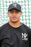 Sione Gray.<br /> New Zealand Diamond Blacks Baseball Team headshots.<br /> Llloyd Elsmore Park, Pakuranga, Auckland, New Zealand. 4 February 2016.<br /> Copyright photo: Andrew Cornaga / www.photosport.nz