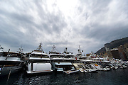 May 22, 2014: Monaco Grand Prix: Monaco harbor filled with mega yachts