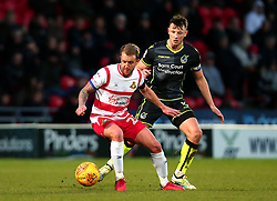James Coppinger of Doncaster Rovers takes on Ollie Clarke of Bristol Rovers - Mandatory by-line: Robbie Stephenson/JMP - 27/01/2018 - FOOTBALL - The Keepmoat Stadium - Doncaster, England - Doncaster Rovers v Bristol Rovers - Sky Bet League One