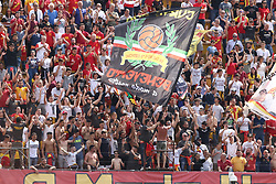 April 29, 2018 - Benevento, Campania, Italy - Supporters of Benevento Calcio during the Italian Serie A football match Benevento Calcio and Udinese Calcio at Ciro Vigorito Stadium in Benevento on April 29, 2018  (Credit Image: © Paolo Manzo/NurPhoto via ZUMA Press)
