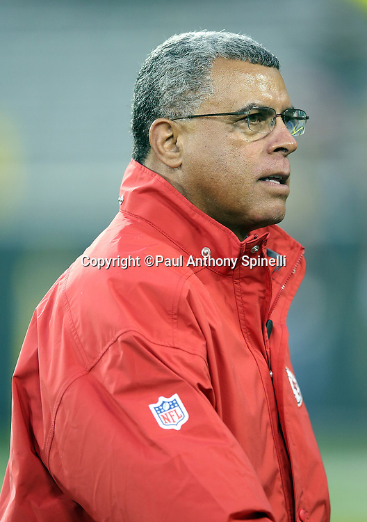 Kansas City Chiefs assistant head coach and wide receivers coach David Culley looks on before the 2015 NFL week 3 regular season football game against the Green Bay Packers on Monday, Sept. 28, 2015 in Green Bay, Wis. The Packers won the game 38-28. (©Paul Anthony Spinelli)