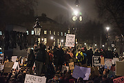 Anti-Trump protest rally. Downing St. London.  30 January 2017