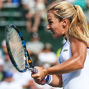 March 11, 2016, Palm Springs, CA:<br /> Dominica Sibulkova in action against Agnieszka Radwanska during the 2016 BNP Paribas Open at the Indian Wells Tennis Garden in Indian Wells, California Friday, March 11, 2016.<br /> (Photos by Billie Weiss/BNP Paribas Open)