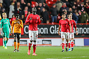 Charlton Athletic defender Mouhamadou-Naby Sarr (23) celebrates after scoring a goal (2-1) during the EFL Sky Bet Championship match between Charlton Athletic and Hull City at The Valley, London, England on 13 December 2019.
