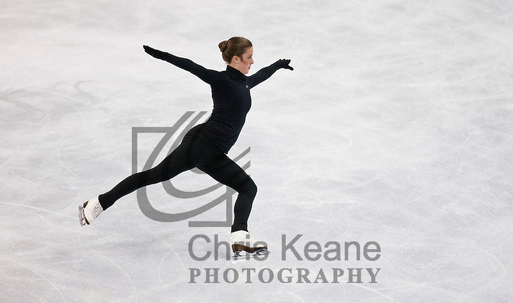 Ashley Wagner skates her routine during a practice session at the U.S. Figure Skating Championships in Greensboro, North Carolina on January 26, 2011. REUTERS/Chris Keane (UNITED STATES)