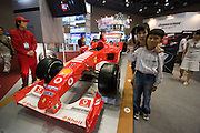 Seoul Motor Show 2005 at Korea International Exhibition Center (KINTEX). The big international players are exhibiting alongside local auto makers and their cars are a big hit with Koreans, here Michael Schumacher's Ferrari Formula 1 at the Bridgestone booth.