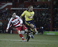 Photo: Aidan Ellis.<br /> Doncaster Rovers v Aston Villa. Carling Cup. 29/11/2005.<br /> Doncaster's Paul Hefernan scores the second goal