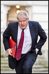 January 30, 2018 - London, United Kingdom - BORIS JOHNSON MP, Foreign Secretary arrives in Downing Street as Cabinet Ministers arrive at Number 10 for the weekly Cabinet Meeting takes place. (Credit Image: © Pete Maclaine/i-Images via ZUMA Press)
