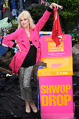 Joanna Lumley at M & S re-cycling scheme launch