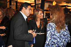 Left to right, DIAMANTIS & BESSY LEMOS and MARYAM SACHS at a party to celebrate the publication of Maryam Sach's novel 'Without Saying Goodbye' held at Sotheran's Bookshop, 2 Sackville Street, London on 10th November 2009.