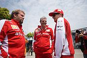 April 10-12, 2015: Chinese Grand Prix - Maurizio Arrivabene, team principal of Scuderia Ferrari and Kimi Raikkonen (FIN), Ferrari
